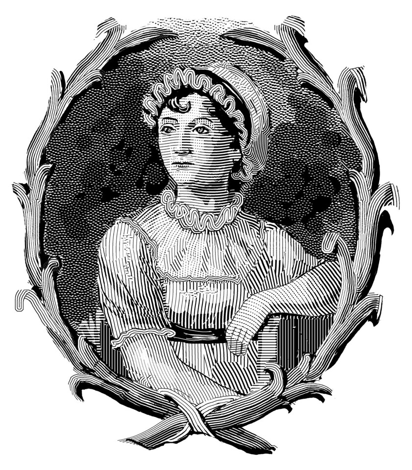 Jane Austen, based on a contemporary painting