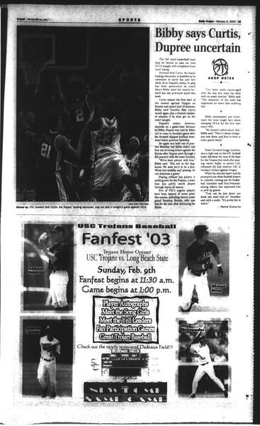 Daily Trojan, Vol. 148, No. 15, February 05, 2003