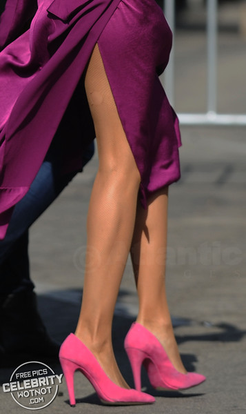 Rosario Dawson In Stunning Purple Silk Dress, LA