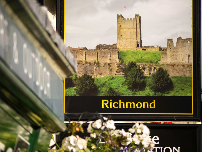 Pub sign of Richmond Castle, Richmondshire,North Yorkshire