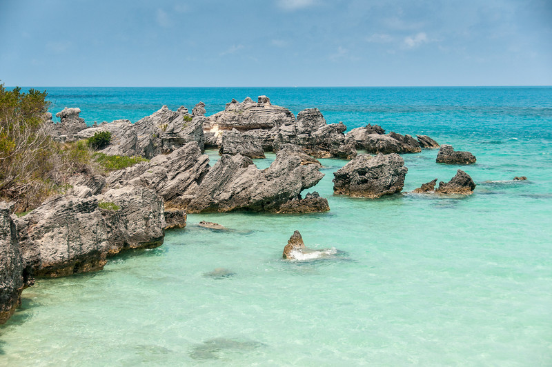 Rocks at the beach in St. George's Island, Bermuda