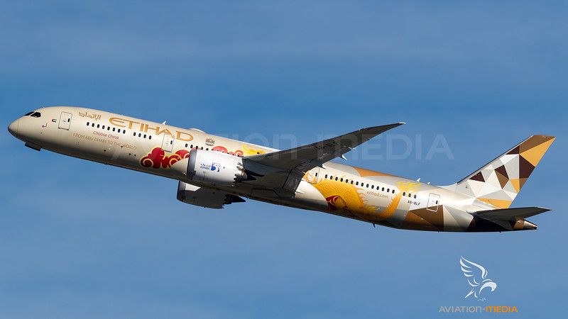 Etihad Boeing B787-9 A6-BLF Choose China livery