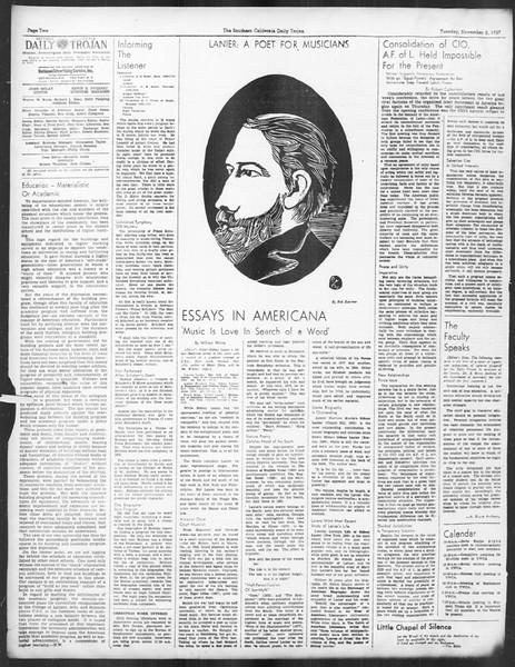 Daily Trojan, Vol. 29, No. 32, November 02, 1937