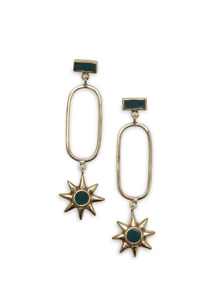 Star Golden Earrings