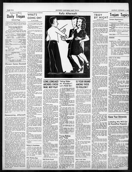 Daily Trojan, Vol. 31, No. 54, December 04, 1939