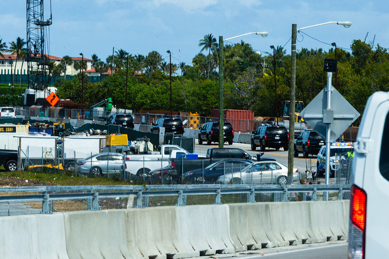 President Donald J. Trump's motorcade crosses Bingham Island heading back to Mar-a-Lago on Saturday, March 30, 2019. [JOSEPH FORZANO/palmbeachpost.com]