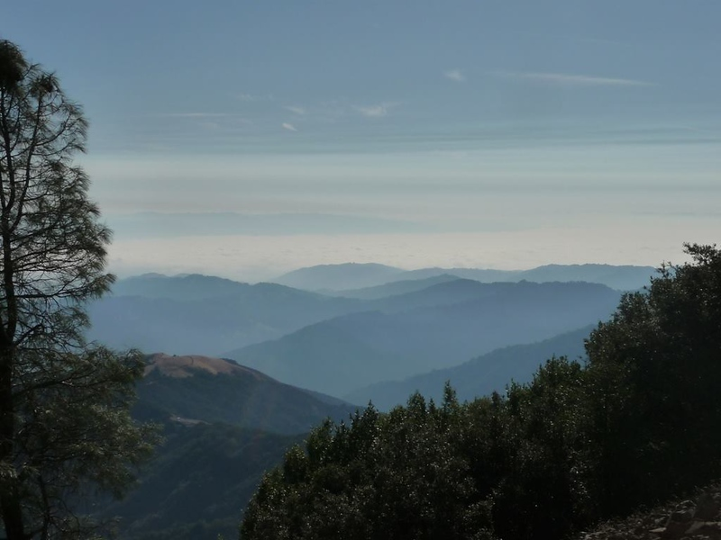 View South from Mt Umunhum on Grand Opening Day