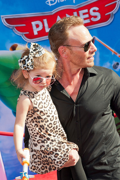 HOLLYWOOD, CA - AUGUST 05: Actor Ian Ziering and daughter arrive at the Los Angeles premiere of 'Planes' at the El Capitan Theatre on Monday August 5, 2013 in Hollywood, California. (Photo by Tom Sorensen/Moovieboy Pictures)