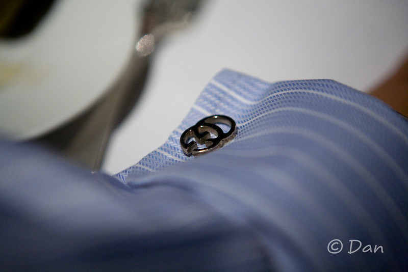 my cuff link...I wore one of my good shirts.