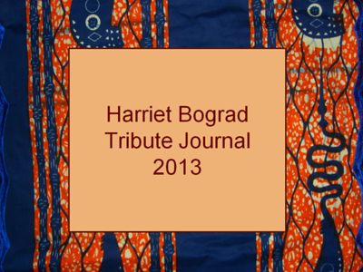 Harriet Bograd Tribute Journal 2013