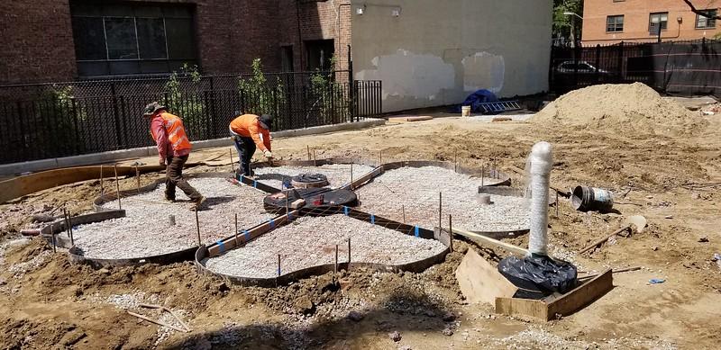 20190725_Colored Concrete flower construction.jpg