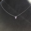 0.48ct 18kt White Gold Rose Cut Bezel Pendant 3