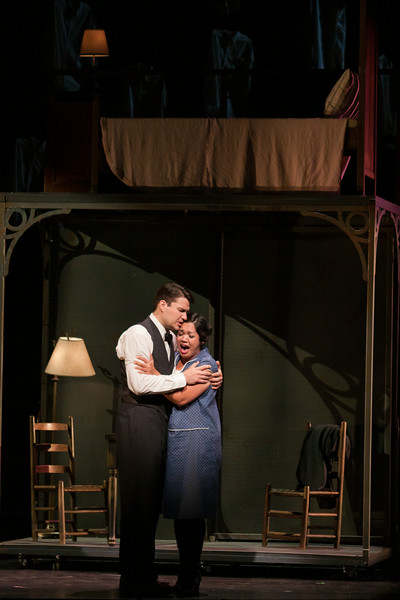 "Christian Bowers as Clyde Griffiths and Vanessa Isiguen as Roberta Alden in The Glimmerglass Festival's new production of Tobias Picker's ""An American Tragedy."" Photo: Jessica Kray/The Glimmerglass Festival."