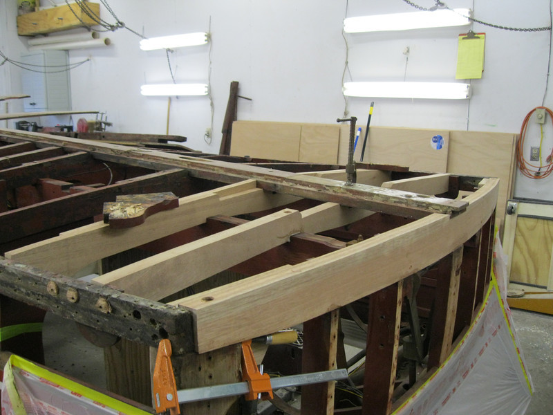 Another view of new bottom frames installed.