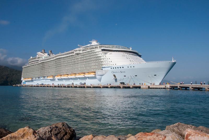 Oasis of the Seas - our cruise ship - Labadee, Haiti