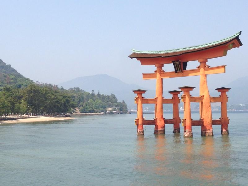 Itsukushima Shirne's Torii Gate, Miyajima - Leslie Rowley S95
