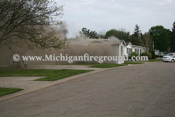 4/30/10 - Mason mobile home fire, 78 Hawthorne Ln