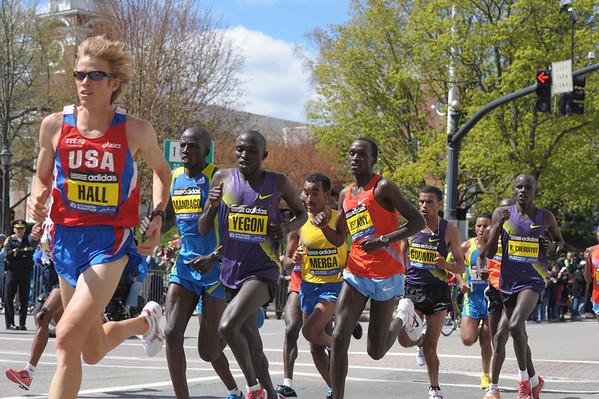 Boston Marathon at Wellesley Center  4.18.2010