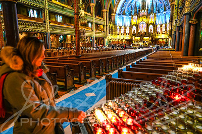 The Notre-Dame Basilica of Montreal on Valentine's Day 2020-02-14