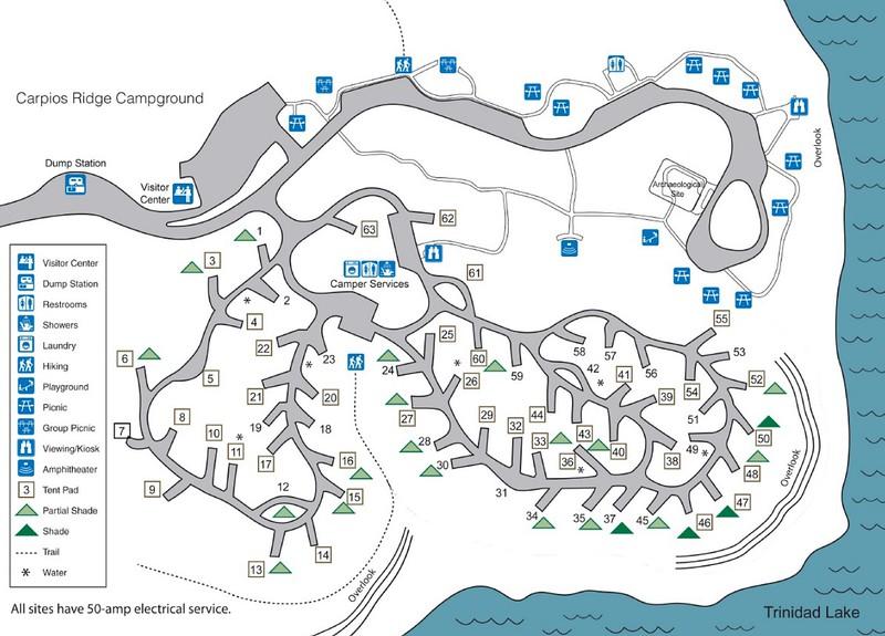 Trinidad Lake State Park (Carpios Ridge Campground)
