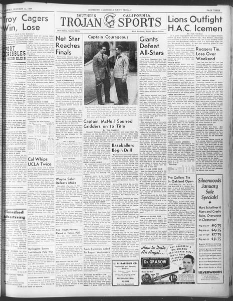 Daily Trojan, Vol. 30, No. 67, January 16, 1939