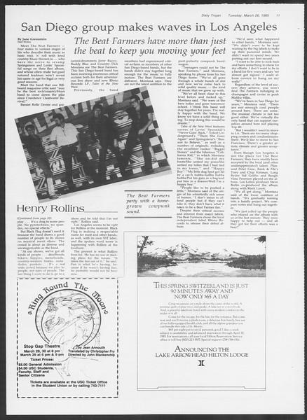 Daily Trojan, Vol. 98, No. 51, March 26, 1985