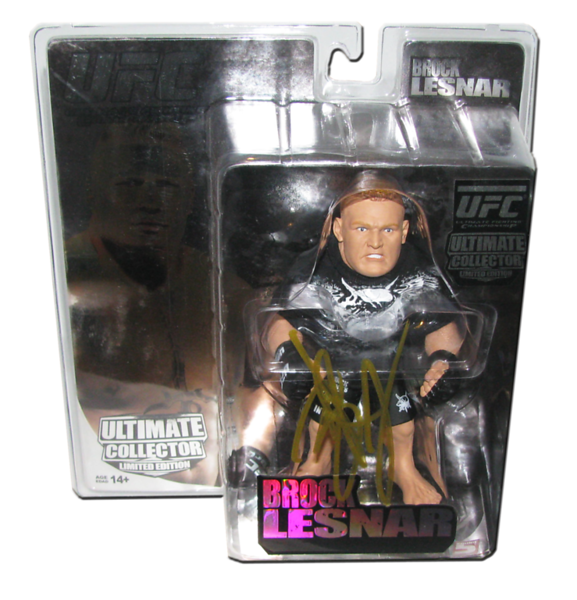 Brock Lesnar Autographed UFC Series 4 Round 5 Collectors Limited Edition Figure