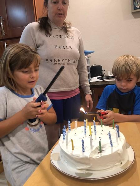 Abby's 8th Birthday and Santa Cruz
