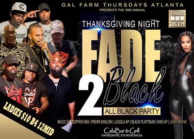 GAL FARM THURSDAYS FADE TO BLACK THANKSGIVING 2020