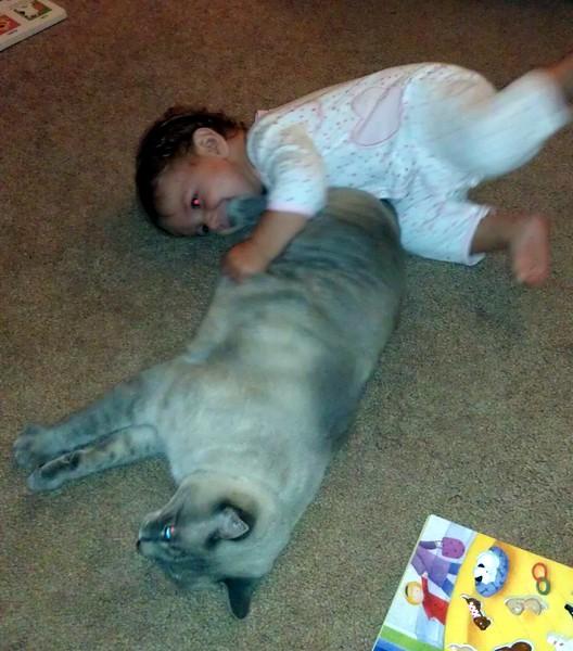 Shai plays with Ariel