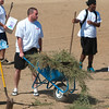 COLLEGE OF SAN MATEO FOOTBALL PLAYERS CLEAN UP DOG PARK