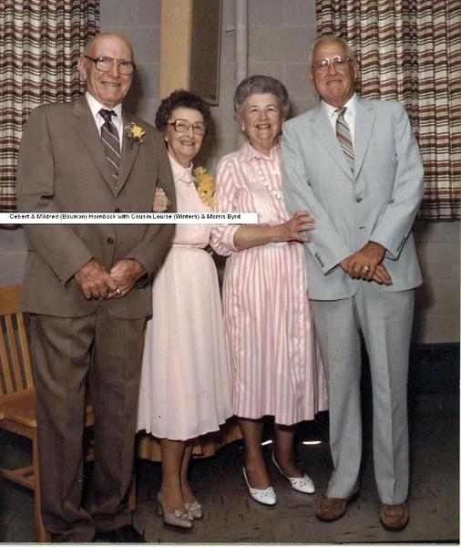Cebert and Mildred Bauman Hornback with Louise Winters aand Morris Byrd.jpg