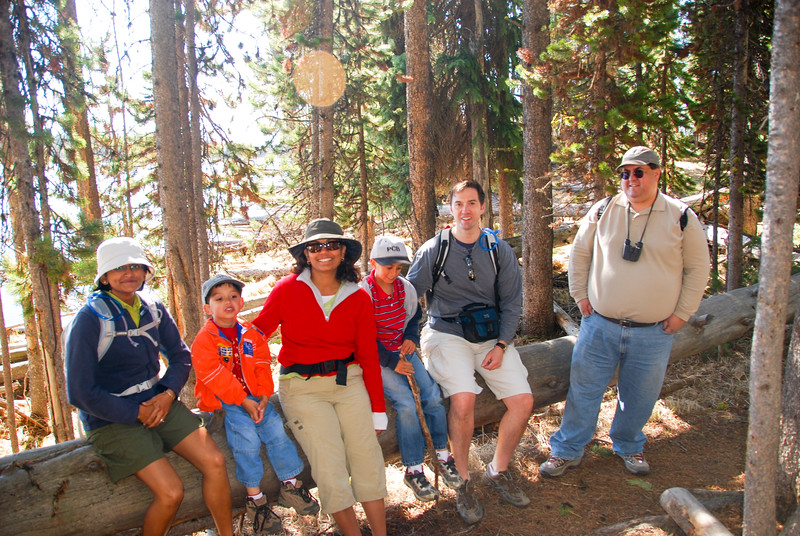 The group hiking the Pelican Creek Trail