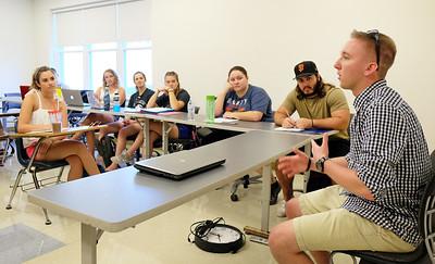 Alum Nicholas Bowen in Victimology Class Mac Lab 9-5-18