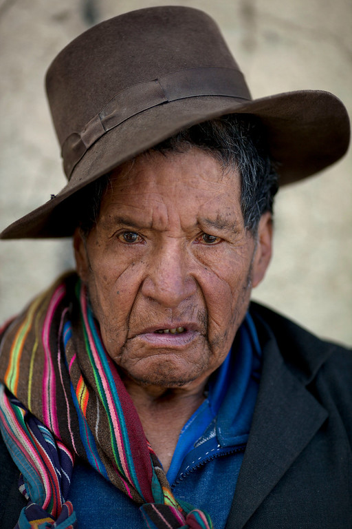 """. Pedro Vega Yucra, 80, stands for a photo in Chacas, a small village in Ayacucho, Peru, on Saturday, June 15, 2013. When asked: As you grow older, what are you most afraid of and what is the biggest problem facing the elderly in your country? Yucra said \""""I only have a small house. I have no land to work so I have no money. I live alone because my three children live far away, and my wife died years ago. So my biggest fear is that one day I will not have anything to eat or even the energy to work on my own. In the rural areas of my country, we, the elderly, die and nobody notices. We eat alone, we sleep alone, the government should take care of us, but as you become old, no one cares.\"""" (AP Photo/Rodrigo Abd)"""