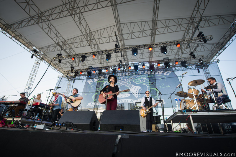 Of Monsters And Men perform on December 1, 2012 during 97X Next Big Thing at Vinoy Park in St. Petersburg, Florida