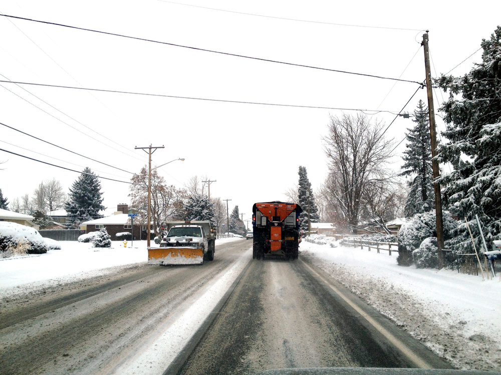 . Snow plows on Carr St. In Arvada. Joe Amon The Denver Post
