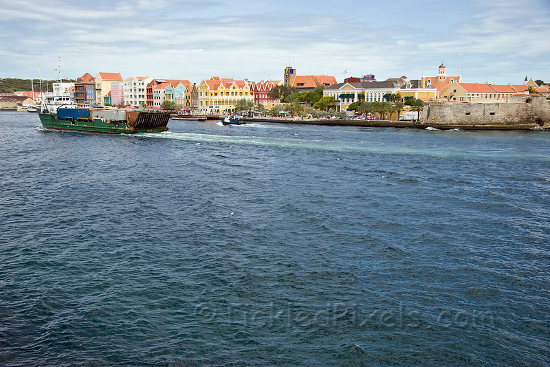 Freighter Entering Willemstad Harbour