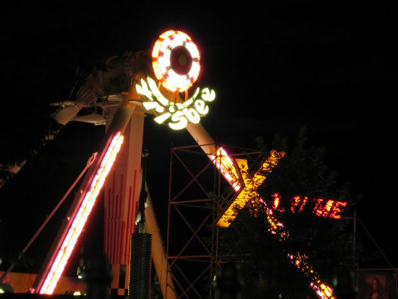 Xtreme Frisbee at night.