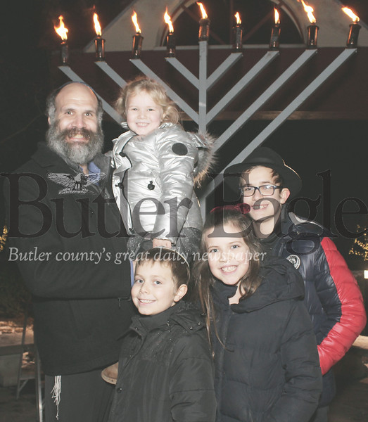 Harold Aughton/Special to the Eagle: Rabbi Ely Rosenfeld and family