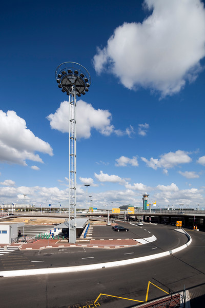 Exterior view of Orly Airport, Paris, France