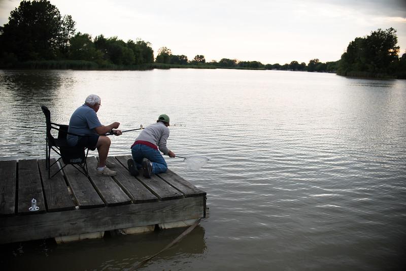 Dad's catfish catch.