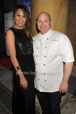 Chrissy Teigen, Chef Dan Kluger from ABC Kitchen photo by Rob Rich/SocietyAllure.com © 2014 robwayne1@aol.com 516-676-3939