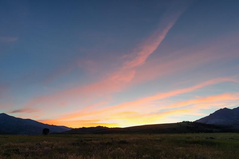 Sunset, Sawtooth National Recreation Area