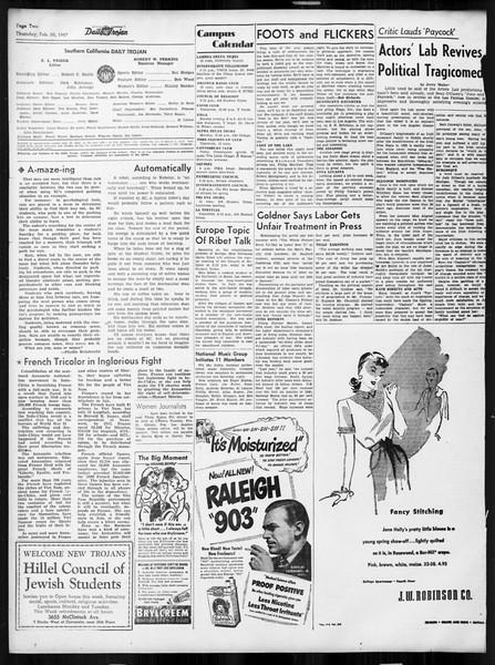 Daily Trojan, Vol. 38, No. 79, February 20, 1947