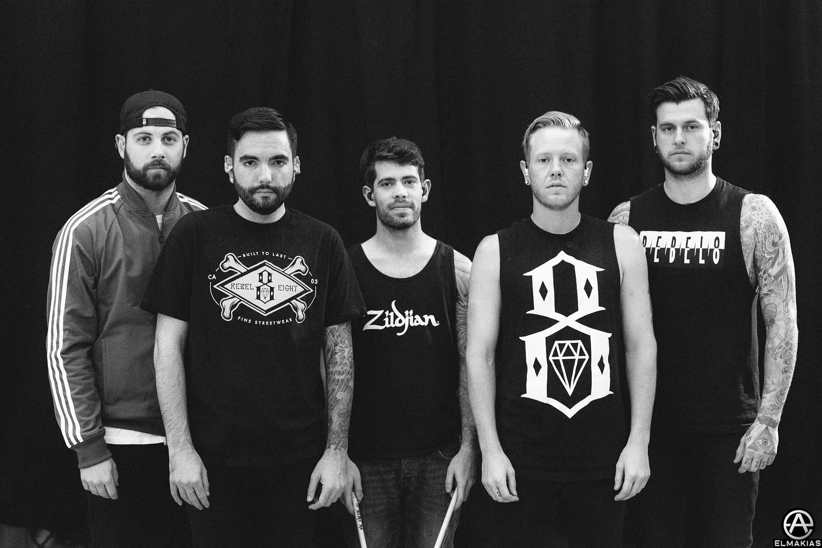 A Day To Remember backstage at Rawk Attack in Germany
