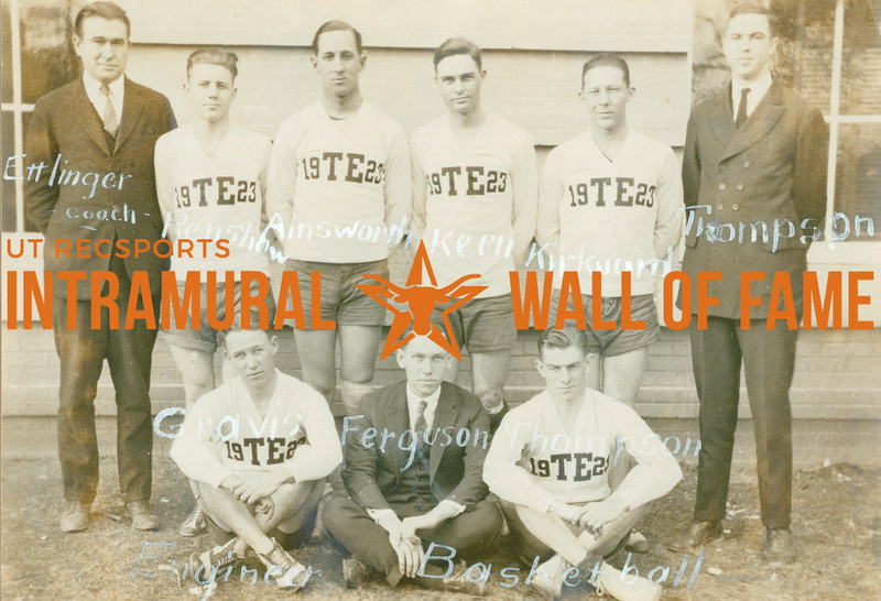 BASKETBALL  Engineers  R1: Ettlinger (Coach), Renshow, Ainsworth, Keen, Kirkuard, Thompson R2: Gravis, Ferguson, Thompson
