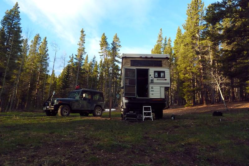 Camping near Chicago Creek