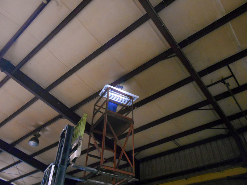Tex Hangs the High-Intensity Shop Light