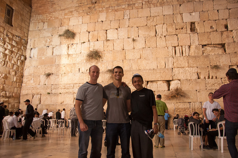 The Western Wall, or 'Wailing Wall' on the western side of the temple mount in Jerusalem, Israel.